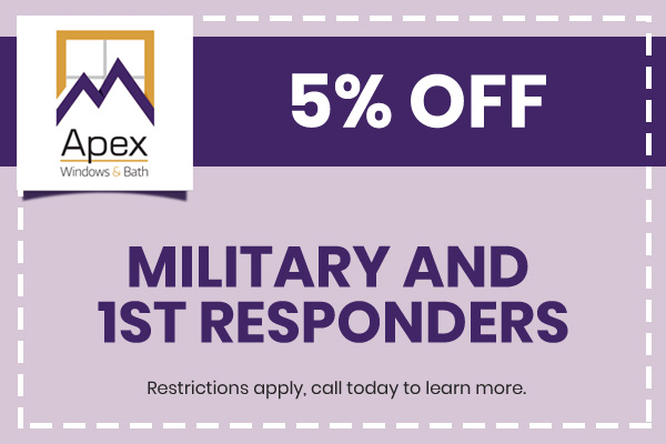5% discount for military and first responders
